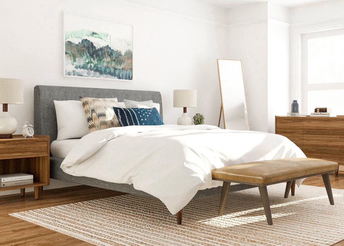 cómo diseñar una habitación al estilo Mid-Century